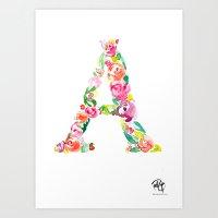 monograms - A Art Print
