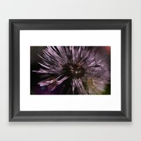 Blow Away Dandelion - Te… Framed Art Print