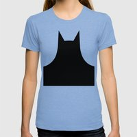 Yellow Bat  Womens Fitted Tee Tri-Blue SMALL