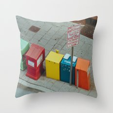 Bright City Throw Pillow