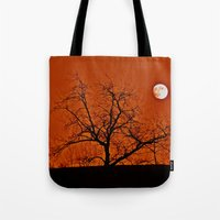 Red Sky Moon Tote Bag