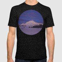 Mt. Hood, Oregon Mens Fitted Tee Tri-Black SMALL