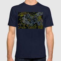 Plumbago Dance Mens Fitted Tee Navy SMALL