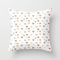 Cat Family (Smaller Cats… Throw Pillow
