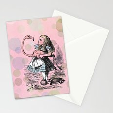 Alice plays Croquet Stationery Cards