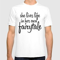 FAIRYTALE Mens Fitted Tee White SMALL