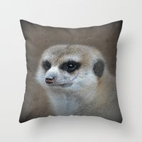 Erdmännchen  Throw Pillow