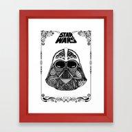 Dark Vador (with Frame) Framed Art Print