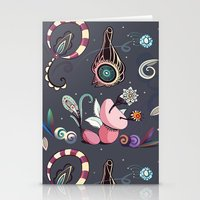 camtric fantasy pattern Stationery Cards