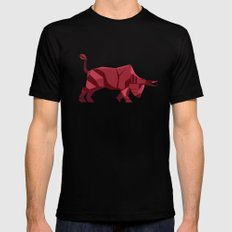 Origami Bull SMALL Black Mens Fitted Tee
