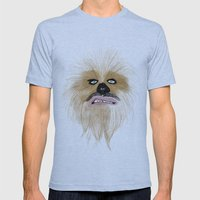 chew-bacca Mens Fitted Tee Athletic Blue SMALL