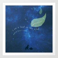 Leaf On The Wind Art Print