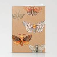 Un-Natural Selection: Carmine Stripee Halloween Moth Stationery Cards