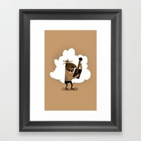 Willie One String Framed Art Print