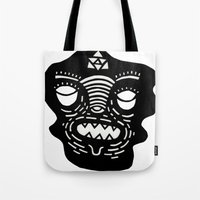 stencil face Tote Bag