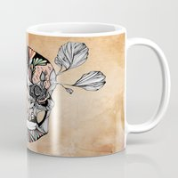 Flower Skull Mug