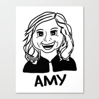 Amy Poehler Canvas Print