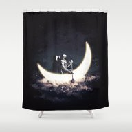 Moon Sailing Shower Curtain
