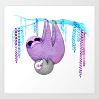 Sloths Art Print