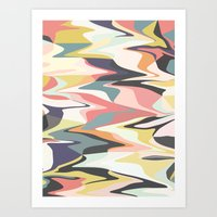 Deco Marble Art Print