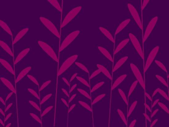leafy silhouette 2 Art Print