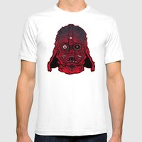 Monster Vader Mens Fitted Tee White SMALL