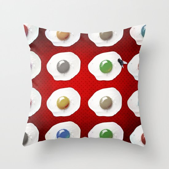 Disco Breakfast Throw Pillow