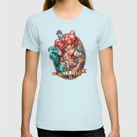 SIREN Womens Fitted Tee Light Blue SMALL