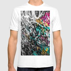 Graffiti Walls Mens Fitted Tee White SMALL
