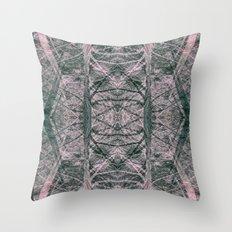 pink woods Throw Pillow