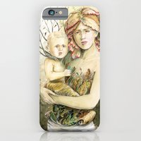 iPhone & iPod Case featuring Mother Earth to her child by Stephane Lauzon