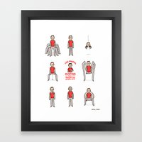 Less Amazing Mutations from a Radioactive Spider Bite  Framed Art Print