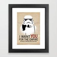 Stormtrooper I want YOU  Framed Art Print