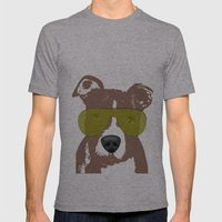 American Pit Bull Terrier Mens Fitted Tee Athletic Grey SMALL