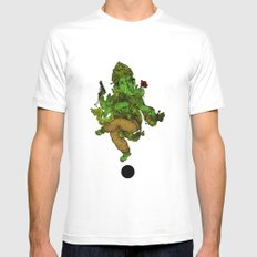 Ganesh Ecstasy White SMALL Mens Fitted Tee