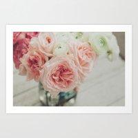 English Roses No. 1 Art Print