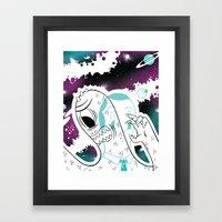 Space Beat 2 Framed Art Print