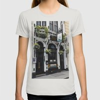 The Ship Public House London Womens Fitted Tee Silver SMALL