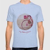 Lady In Pink Mens Fitted Tee Athletic Blue SMALL