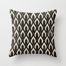 Art Deco Marble Pattern Throw Pillow