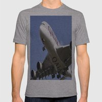 Qatar Airlines Airbus A380 Mens Fitted Tee Athletic Grey SMALL