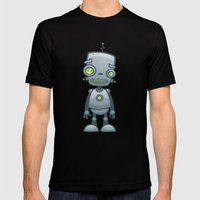 Silly Robot Mens Fitted Tee Black SMALL