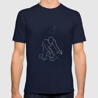 Galvanico 01 Mens Fitted Tee Navy SMALL
