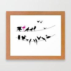 Best Bird Buddies Framed Art Print