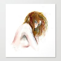 Hidden girl Canvas Print