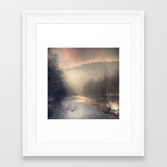 winter morning light Framed Art Print