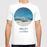 Adventure is out there Mens Fitted Tee White SMALL