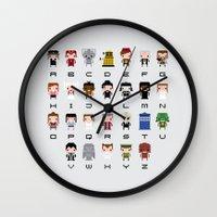 Doctor Who Alphabet Wall Clock