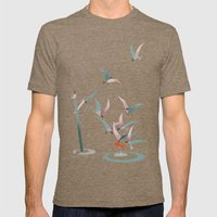 The Red Fish Mens Fitted Tee Tri-Coffee SMALL