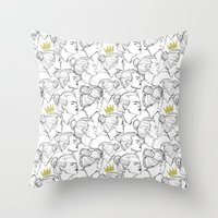 King Bun Throw Pillow